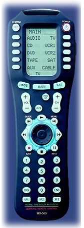 MX-500 universal learning remote control from Universal Remote Control